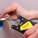 Electrician insulating electric wires